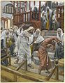 Jesus Chases a Possessed Man from the Synagogue James Tissot Brooklyn Museum