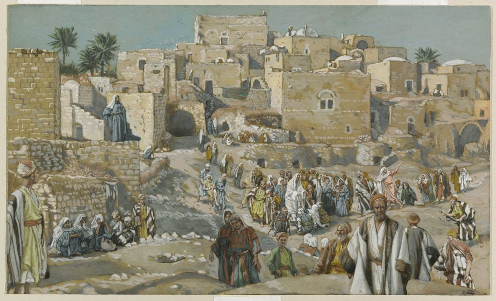 He Went Through the Villages on the way to Jerusalem James Tissot Brooklyn Museum full size