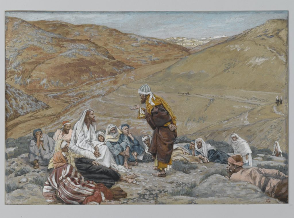 The Scribe Stood to Tempt Jesus James Tissot Brooklyn Museum full size